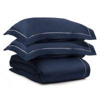 Комплект постельного белья из египетского хлопка essential, темно-синий, евро размер TK20-BL0003