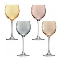 Набор из 4 бокалов для вина Polka 400 мл металлик G932-14-960