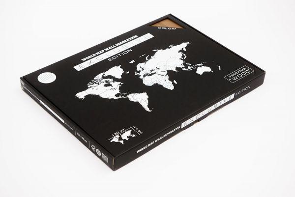 Карта-пазл Wall Decoration Exclusive, 180х108 см, американский орех 19-16