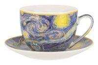Чашка с блюдцем Звёздная ночь (В. Ван Гог), 0,26 л Carmani CAR2-830-8210