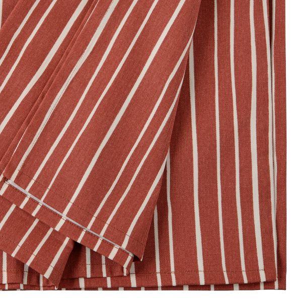 Скатерть из хлопка терракотового цвета с принтом Полоски из коллекции prairie TK20-TC0016