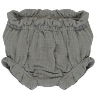Шорты для новорожденных из хлопкового муслина серого цвета из коллекции essential 9-12m TK20-KIDS-SHB0006