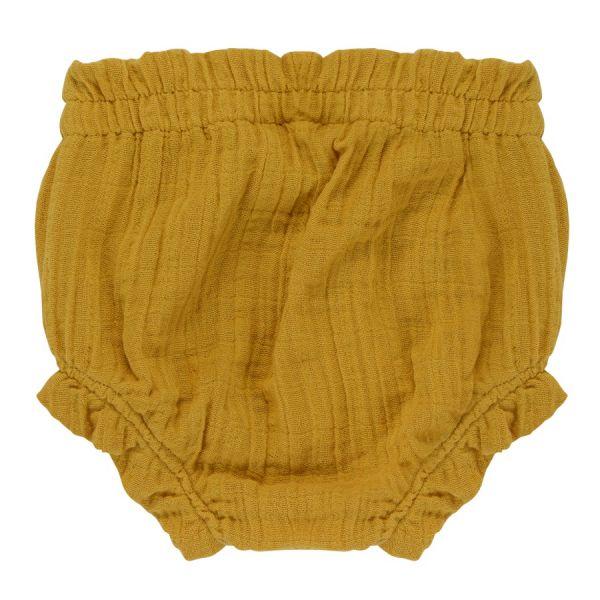 Шорты для новорожденных из хлопкового муслина горчичного цвета из коллекции essential 6-9m TK20-KIDS-SHB0002