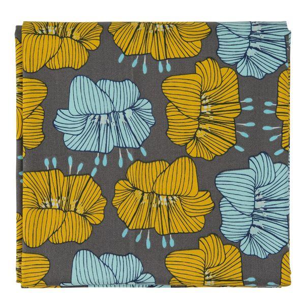 Скатерть из хлопка серого цвета с принтом Цветы из коллекции prairie TK20-TC0007
