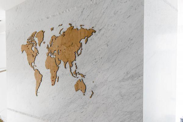 Карта-пазл wall decoration exclusive, 280х170 см, европейский дуб