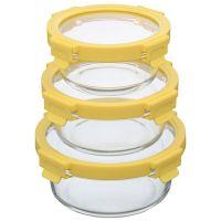 Набор из 3 круглых контейнеров для еды желтый Smart Solutions ID301RD_127C