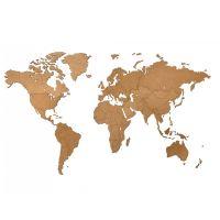 Карта-пазл Wall Decoration, 180х108 см, коричневая 19-05