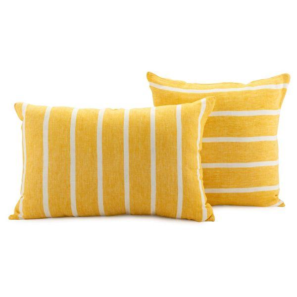 Чехол на подушку декоративный в полоску горчичного цвета из коллекции essential, 40х60 см TK21-CC0006