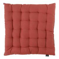 Подушка на стул из хлопка терракотового цвета из коллекции prairie TK20-CP0001