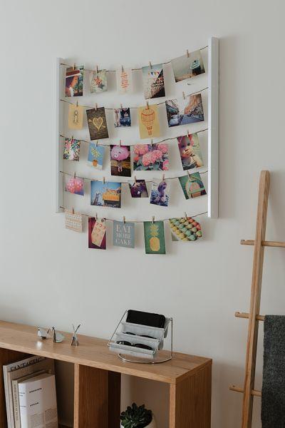 Панно с зажимами для 40 фотографий Hangit белое 315000-660