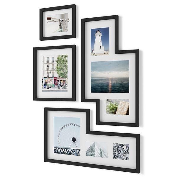 Набор из 4 фоторамок mingle gallery черный 1015592-1106