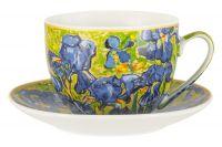 Чашка с блюдцем Ирисы (В. ван Гог), 0,26 л Carmani CAR2-830-8205