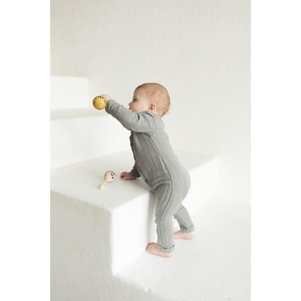 Комбинезон с длинным рукавом из хлопкового муслина серого цвета из коллекции essential 12-18m TK20-KIDS-JSL0004
