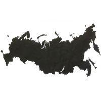 Карта-пазл Wall Decoration 'Российская Федерация', 98х53 см, черная 19-23