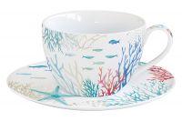 Чашка с блюдцем Море, 0,28 л Easy Life EL-R2154/THES
