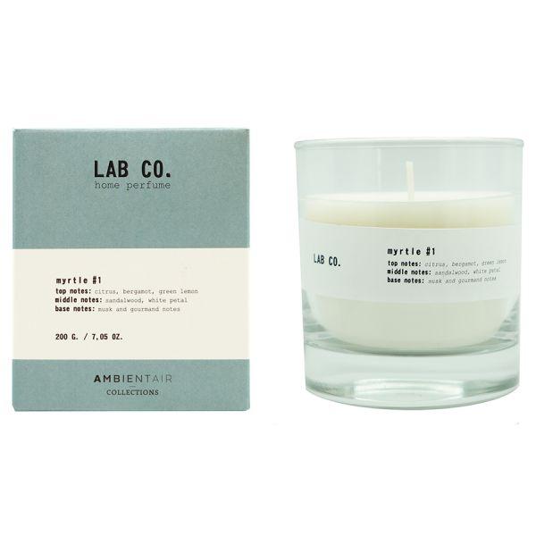 Свеча ароматическая lab co Мирт 40 ч VV040SBLB