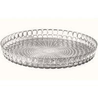 Поднос круглый tiffany 35,6 см серый 19890192