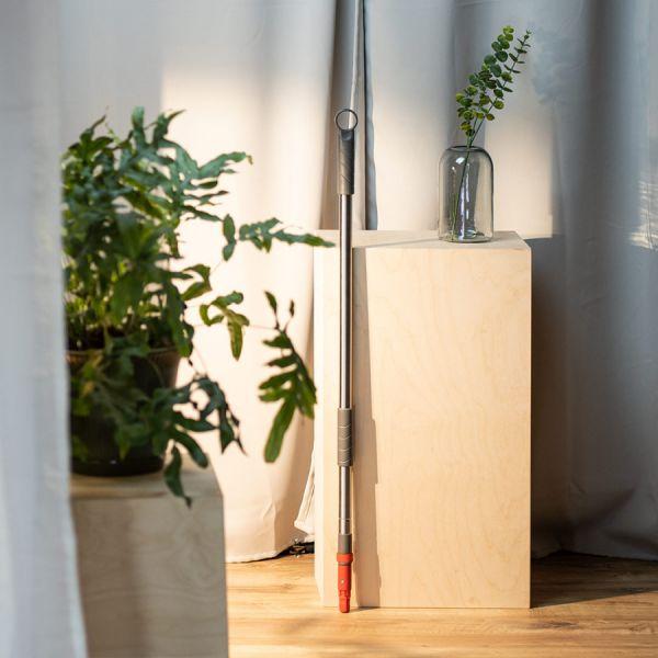 Швабра для мытья пола с телескопической ручкой 160 см, гибкой штангой 40 см и насадкой 15360