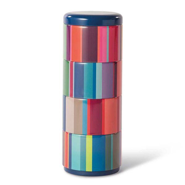 Набор контейнеров для снеков remember, stripes, 4 шт. bz02