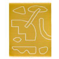 Ковер ручной работы из шерсти и хлопка poetry and steps горчичного цвета, 160х230 см TK18-CA0005