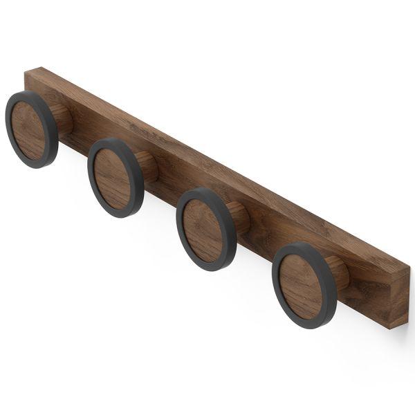 Вешалка настенная hub rail темный орех 1016843-048