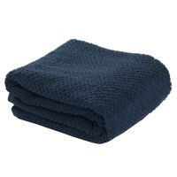 Полотенце для рук фактурное темно-синего цвета из коллекции essential TK20-HT0003