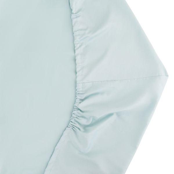 Простыня на резинке из сатина голубого цвета из коллекции essential, 160х200 см TK20-FS0021