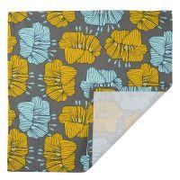 Салфетка сервировочная из хлопка серого цвета с принтом Цветы из коллекции prairie TK20-NA0007
