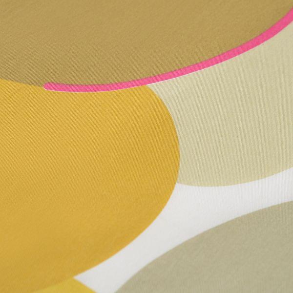 Салфетка сервировочная из хлопка горчичного цвета с авторским принтом из коллекции freak fruit TK20-NA0010