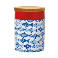 Банка фарфоровая с деревянной крышкой remember, fish, 275 мл pds05