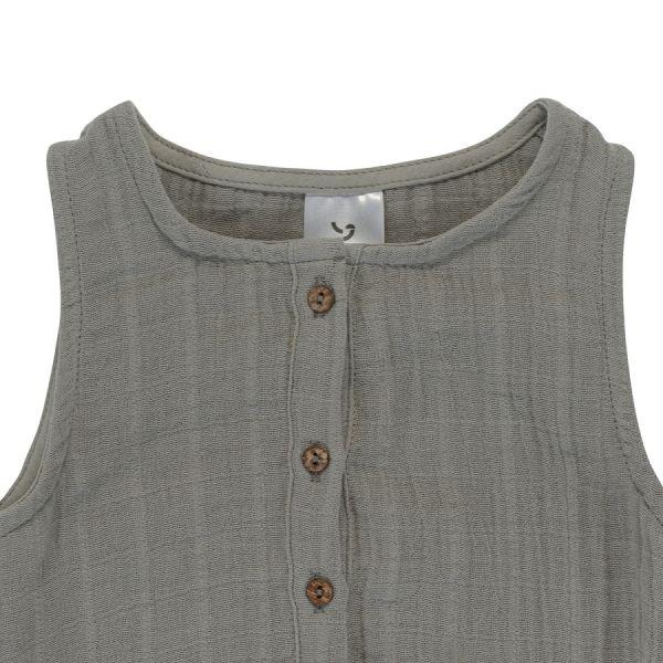 Боди из хлопкового муслина серого цвета из коллекции essential 12-18m TK20-KIDS-BOD0008