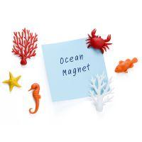 Набор из 6 магнитов для холодильника ocean