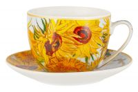 Чашка с блюдцем Подсолнухи (В. Ван Гог), 0,26 л Carmani CAR2-830-8206