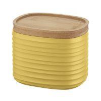 Емкость для хранения с бамбуковой крышкой tierra 500 мл желтая 181801206