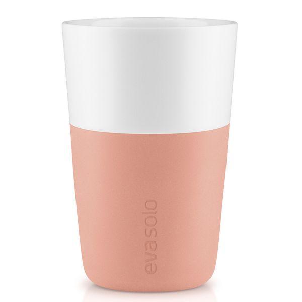 Чашки для латте 2 шт 360 мл персиковый