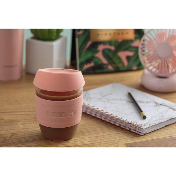 Кружка для кофе 400 мл typhoon стекло розовая 1401.471V