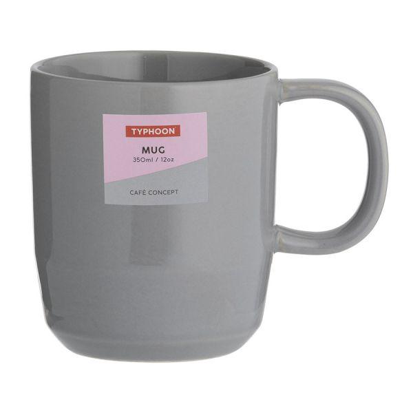 Чашка cafe concept 350 мл темно-серая