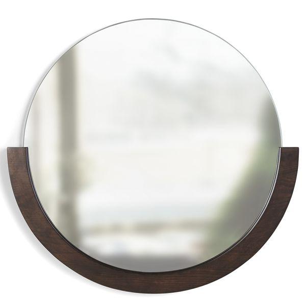 Зеркало настенное mira d76 см темное дерево 1015472-746