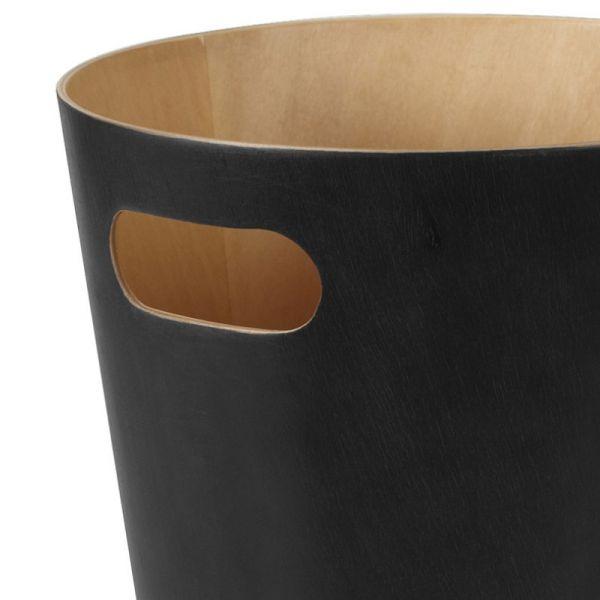 Корзина для мусора woodrow черная 082780-045