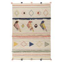 Ковер из хлопка в этническом стиле с орнаментом Птицы из коллекции ethnic, 160х230 см TK20-DR0002