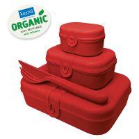 Набор из 3 ланч-боксов и столовых приборов pascal organic красный 3168676