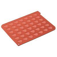 Форма для приготовления печенья macaron heart 30 х 40 см силиконовая 23.043.00.0065