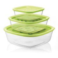 Набор контейнеров Forme casa 3 шт цвет зеленый 21885284