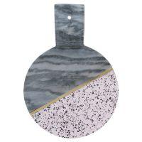 Доска сервировочная из мрамора и камня elements d 25 см 1401.043V