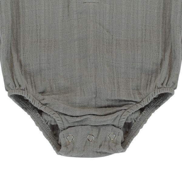 Боди из хлопкового муслина серого цвета из коллекции essential 9-12m TK20-KIDS-BOD0007