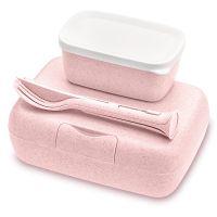 Набор из 2 ланч-боксов и столовых приборов candy ready organic розовый 3272669