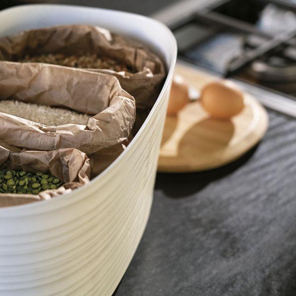 Хлебница с бамбуковой крышкой tierra 10 л бежево-розовая 179600158
