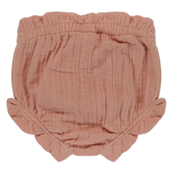 Шорты для новорожденных из хлопкового муслина цвета пыльной розы из коллекции essential 3-6m TK20-KIDS-SHB0007