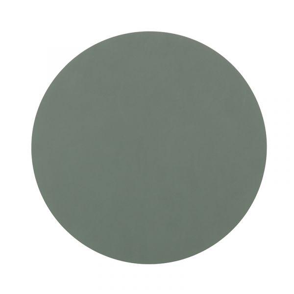 Салфетка подстановочная LINDDNA NUPO cеро-зеленый круглая 24 см 981884
