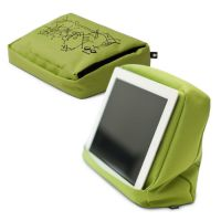 Подушка-подставка с карманом для планшета Hitech 2 зеленая-черная 262891